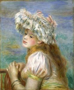 ピエール・オーギュスト・ルノワール 《レースの帽子の少女》 1891年