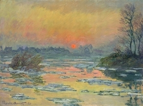 012モネ_セーヌ河の日没